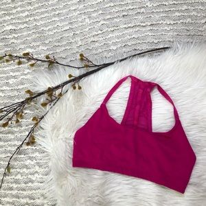 Pink sports bra from Alo Yoga
